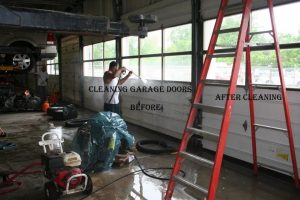 Cleaning Garage Doors Before And After