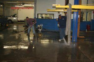 Dealership Repair Shop Cement Floor Cleaning