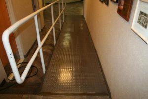 Office Hallway Handicap Steel Ramp